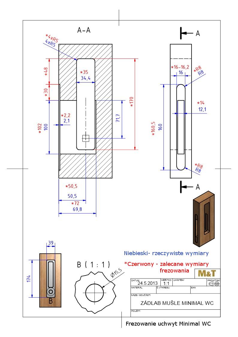 Frezowanie do uchwytu Minimal/Maximal WC z zamkiem hakowym