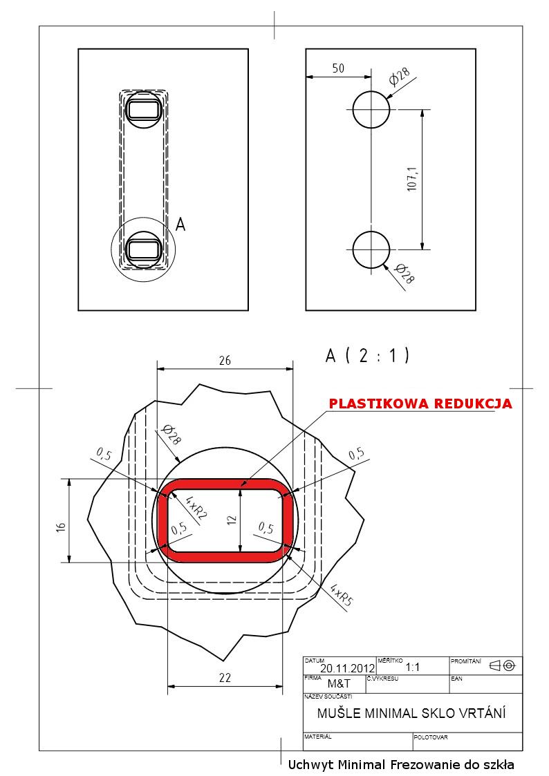 Frezowanie do uchwytu Minimal/Maximal do szkła