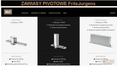 Zawiasy pivot FritsJurgens